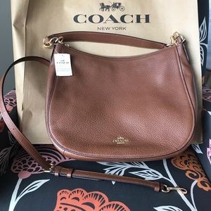 Coach Elle Hobo leather purse- Saddle brown